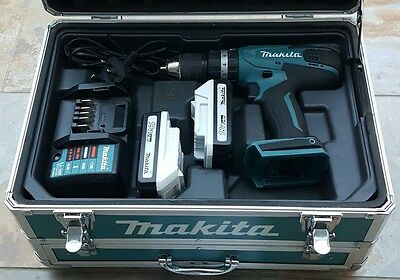 Makita 18v battery Drill, Carry Case, Charger & 2 x Batteries