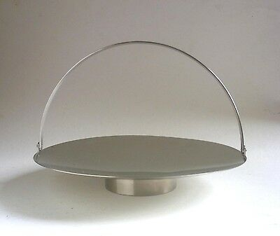 OLD HALL Vintage Modernist CAKE STAND 1960's Robert Welch Stainless Sheffield