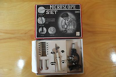 MICROSCOPE SET Vintage 1960's