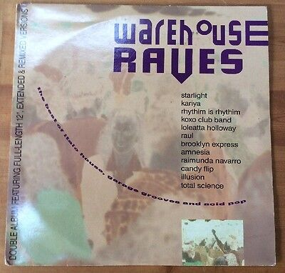WAREHOUSE RAVES Double Vinyl LP Featuring Full Extended & Remixed Versions