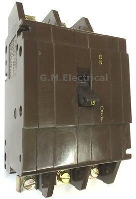 CRABTREE 30 AMP TRIPLE POLE 3 PHASE MCB BREAKER C50 OLD STYLE 30A C-50 BS3871