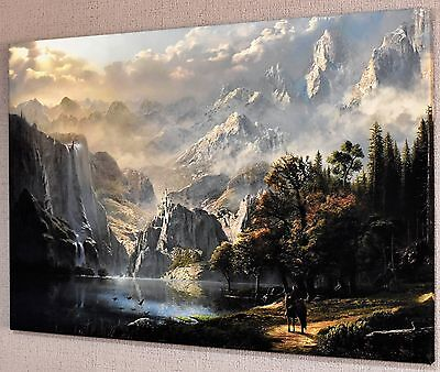 """Stunning Fantasy Japanese Landscape Canvas Picture Wall Art Large 20X30""""  #a229"""