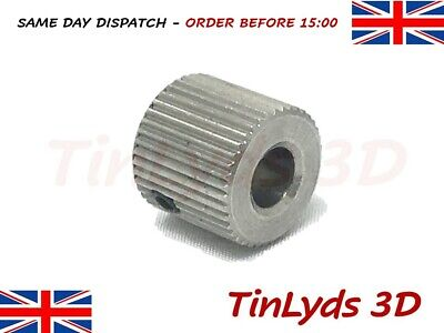 40 Teeth 5mm Bore Mk7/8 Extruder Drive Gear Stainless Steel CTC 3D Printer Part