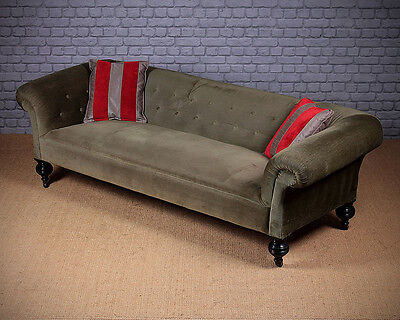 Antique Late 19th.c. Low Back Chesterfield Sofa c.1880