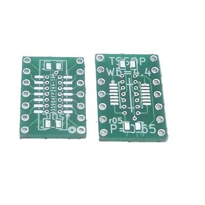 10 pcs SOIC-14/TSSOP-14 SMD To DIP Adapter/Breakout (with -||- decoupling pads).