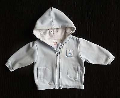 Baby clothes BOY 3-6m NEXT blue sweatshirt-stylehood jacket inner light fleece