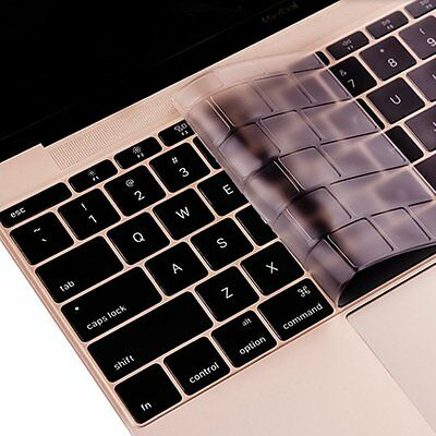 Se7enline Macbook 12 inch Clear Keyboard Skin Cover, Silicone, (For EU Layout)