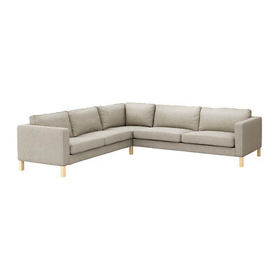 New Ikea KARLSTAD Corner COVER SET for Corner sofa 2+3/3+2 in Sivik Beige