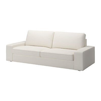 NEW IKEA KIVIK Three [ 3] seat SOFA BED COVER SET ONLY in Blekinge White