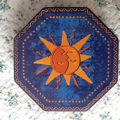 Sun Octagonal Shaped Cookie/biscuit Tin From 2005