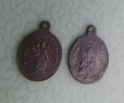 WW1 RELIC Trench art: 2 German soldiers AMULETS of 1915