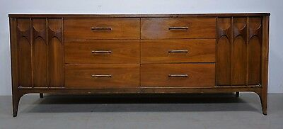 Vintage Kent Coffey Perspecta Long Low Dresser Credenza As-Is FE1705