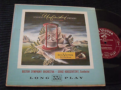 RCA Victor-Red Seal LM 7-Schubert-Symphony No.8 Unfinished-Koussevitzky-BSO-EX.