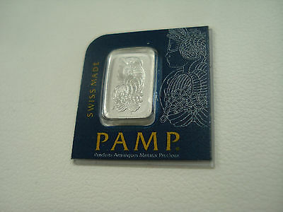 1 gram Platinum Bar PAMP Suisse Lady Fortuna 999.5 Fine In Assay ships free