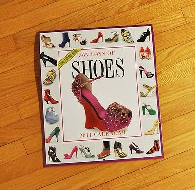 365 Days of Shoes Wall Calendar 2011 by Workman Publishing (NEW)