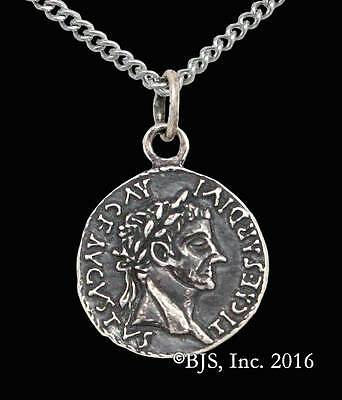 Lasciel's Blackened Denarius Pendant, Silver Dresden Files Jewelry, Jim Butcher