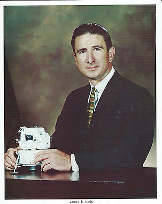 Vintage unsigned NASA 8X10 BS litho,astronaut James B. IRWIN