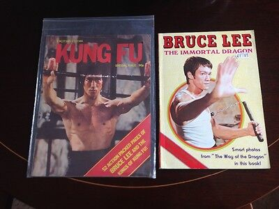 bruce lee the immortal dragon/ kind fu mag