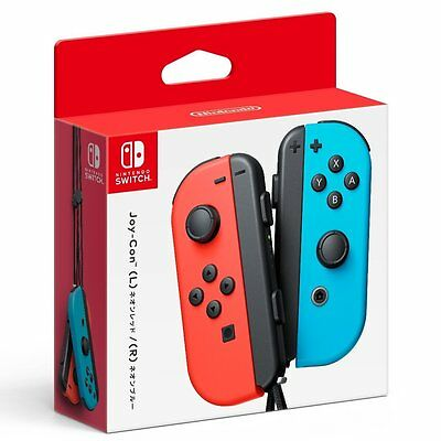 NEW Nintendo Official Joy-Con Controller (Neon Red/ Blue) for Switch System