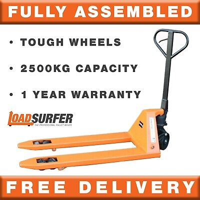 2000kg Pallet Truck Hand Pump Push Jack Trolley Fully Assembled 2 Year Warranty