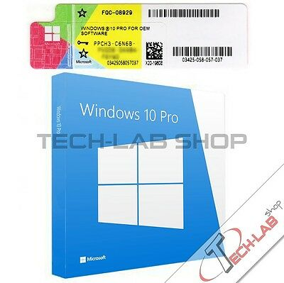Windows 10 Professional 32/64 Bit Pro Licenza Full Product Key