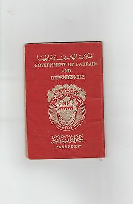 Old Vintage Passport issued AT 1972 AD Government of Bahrain and Dependencies