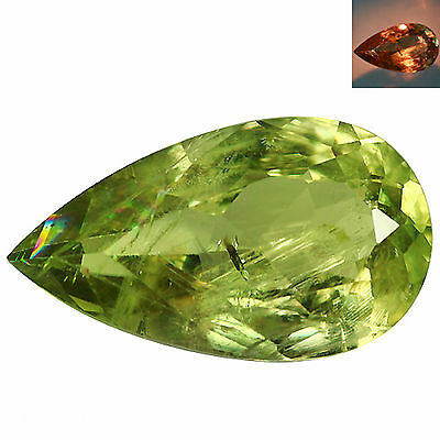 7.84Ct Pear Cut 18 x 10 mm AAA Color Change Turkish Diaspore