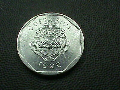 COSTA  RICA    10  colones    1992    BRILLIANT  UNCIRCULATED