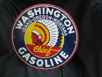 Washington Gasoline Porcelain Sign