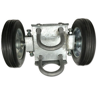 Rolling Gate Carrier Wheels Dual Solid Tire 9/6 Chain Link Fence Rut Runner