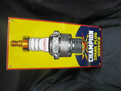 Champion Spark Plug Service Porcelain Sign