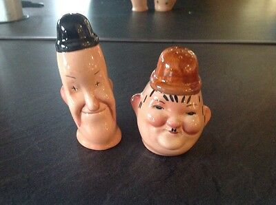 Beswick Laurel And Hardy Salt And Pepper Pots.