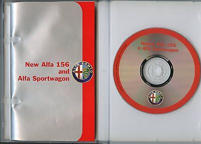 Alfa Romeo 156 press pack  -  90 page  booklet  and  CD