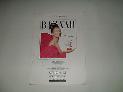 Autentic autograph by Kate Moss on 'Storm' promotion card