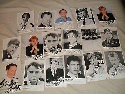 Various autographed photos cards from TV series The Bill