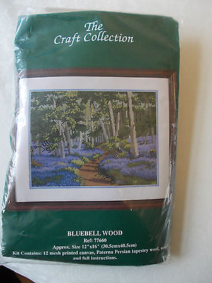 The Craft Collection 12 HPI Tapestry Kit 77660 Bluebell Wood