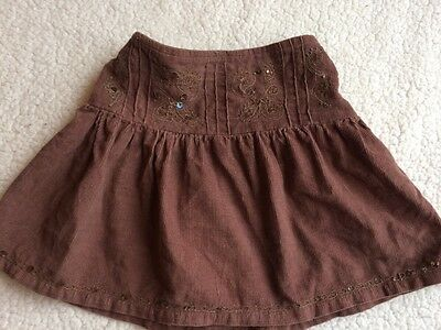 Brown Corduroy Skirt / Age 18 Months