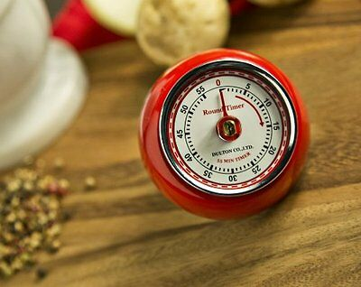 Fox Run 4252 Retro Kitchen Timer with Magnet (Red)