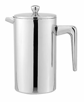Cuisinox Double Walled French Press, 1-Litre, Stainless Steel