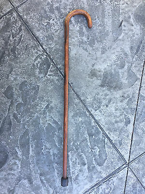 """Traditional & Sturdy Solid Wood Walking Stick Shillelagh Cane 32.5"""" L Rubber Tip"""