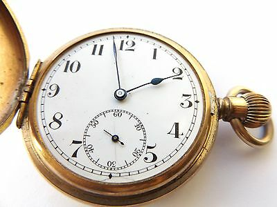 """Very Rare Antique / Vintage """"SATISFACTION TLG""""."""" Gold Plated Pocket Watch"""