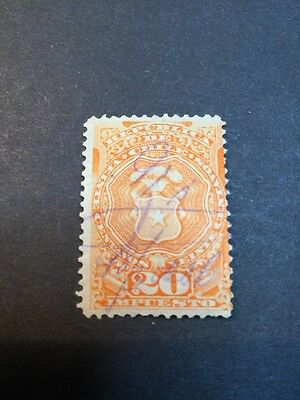 Chile Fiscal Stamp Revenue Used (s926)