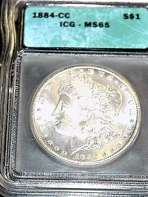 1884-CC Morgan Silver Dollar ICG MS 65 - Carson City Mint