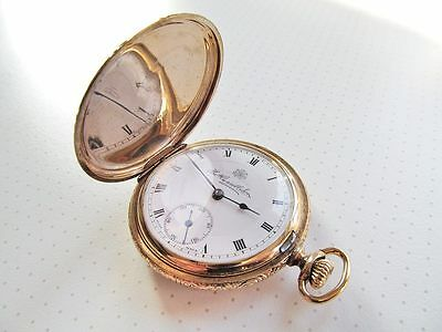 Antique Russell 15J Gold Filled 10yr Hunter Pocket Watch - Working