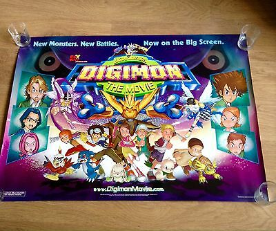 """DIGIMON THE MOVIE Original Double Sided Cinema Poster 30"""" X 40"""" 2000 Collectable"""