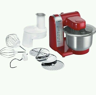 BOSCH MUM48R1GB MULTI FUNCTION 600w FOOD MIXER PROCESSOR RED -BRAND NEW