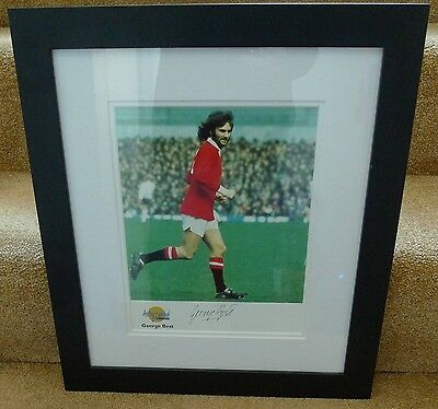 Rare Genuine George Best Signed Autographed Editions Photo Framed Coa
