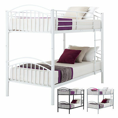 3FT Single Metal Bunk Bed Frame 2 Person for Adult Children Split into 2 Beds