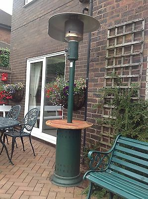 Freestanding Gas Patio Heater Complete With Gas Bottle And Waterproof Cover.