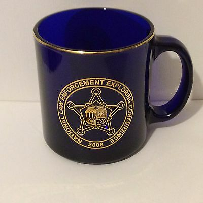 2008 National Law Enforcement Exploring Conference Cup Cobalt Blue Colorado DPS
